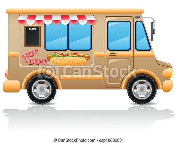car hot dog fast food vector - csp10806831
