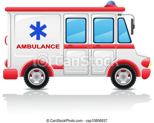 ambulance car vector illustration - csp10806837