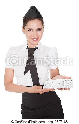 Hospitalidade, anfitriã, apresentando, comprovante - csp10807188