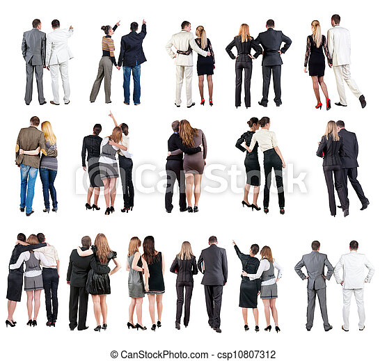 """collection """" Back view of  business team """" - csp10807312"""