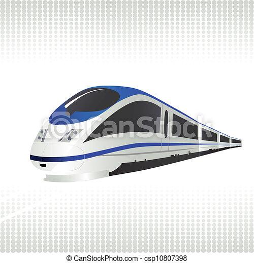 High-speed train - csp10807398
