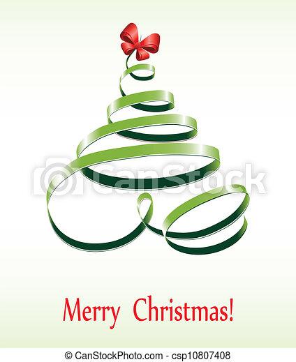 Christmas ribbon tree - csp10807408