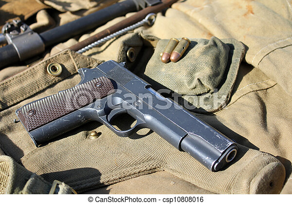 Old military weapon - csp10808016