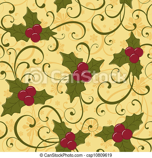 Christmas seamless pattern - csp10809619