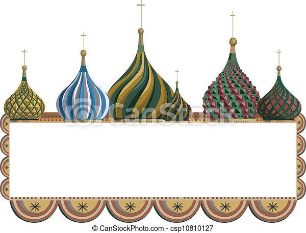 Frame with Kremlin Domes - csp10810127