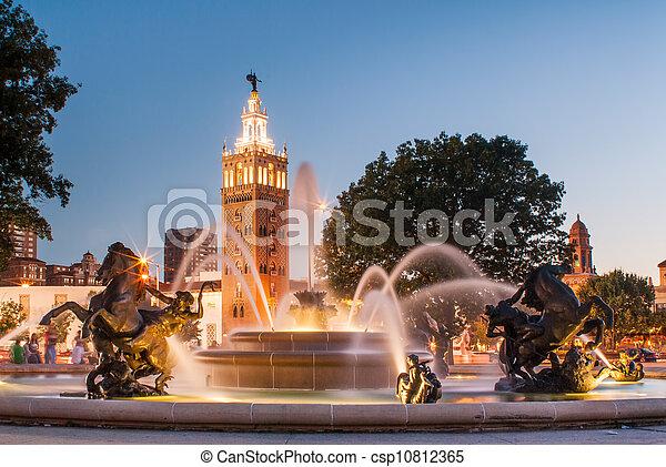 Kansas City Missouri Fountain - csp10812365