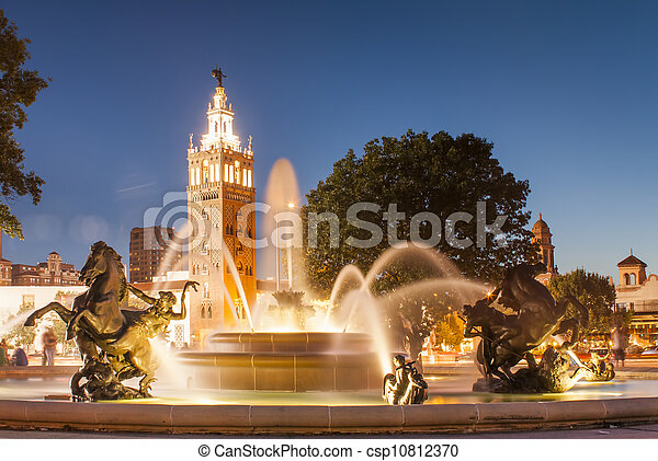 Kansas City Missouri Fountain at Country Club Plaza - csp10812370