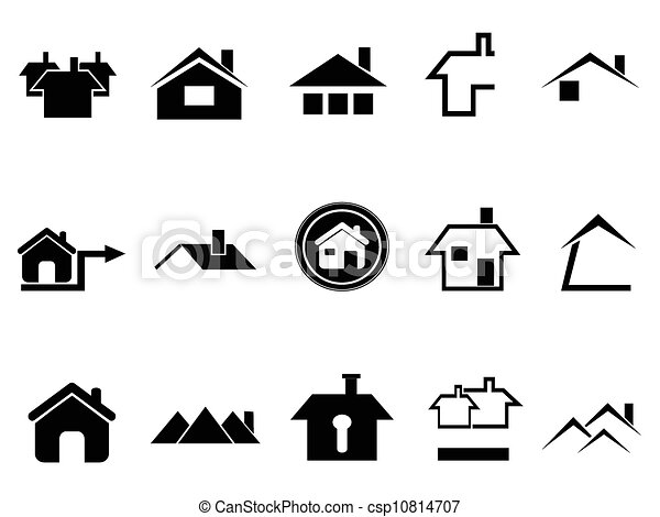 Vector Clipart Of House Icons Set The Design