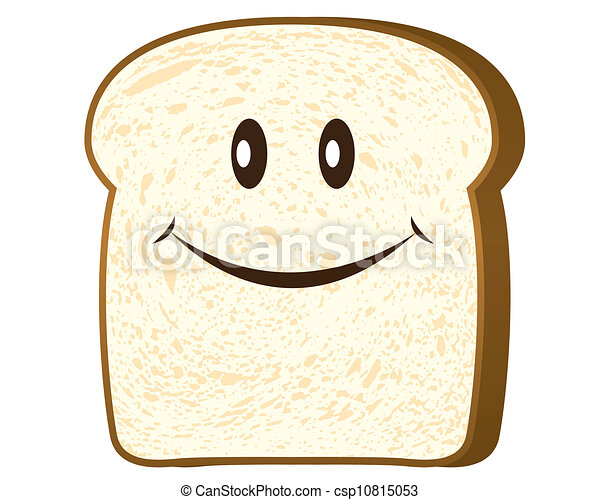 Bread Slice Drawing Bread Slice Isolated on White