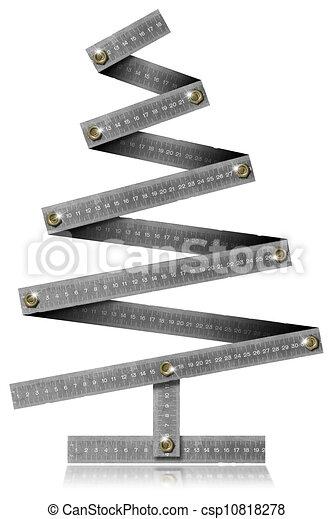 Metal Folding Rule Christmas Tree - csp10818278