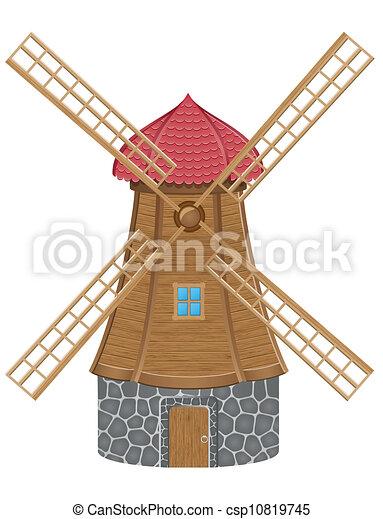- windmill vector illustration - stock illustration, royalty free ...