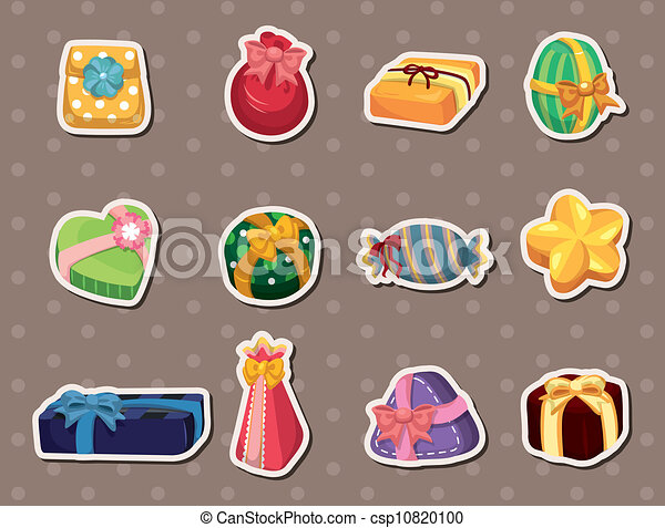 cartoon gifts stickers - csp10820100