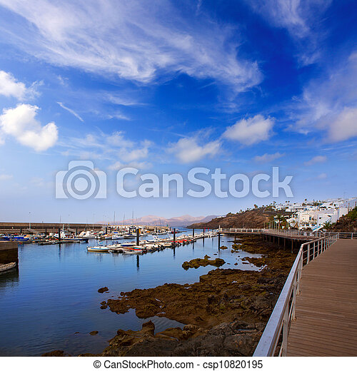 Stock photographs of lanzarote puerto del carmen port in canaries lanzarote csp10820195 - Port del carmen lanzarote ...