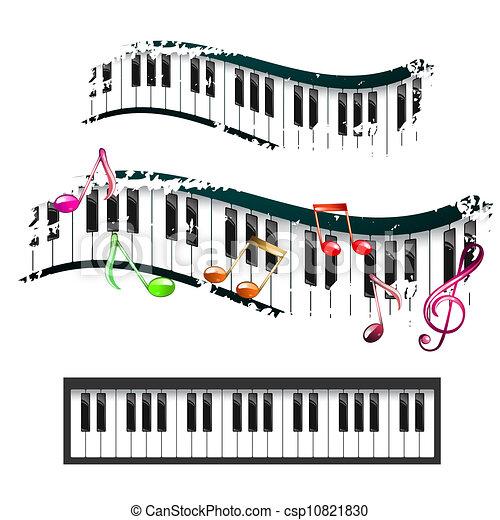 Note Musique Sur Clavier Piano Piano Clavier Musique Notes