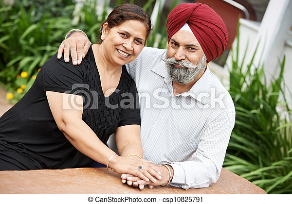 Happy indian adult people couple - csp10825791