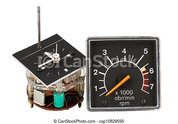 Automobile clock and tachometer - csp10829595