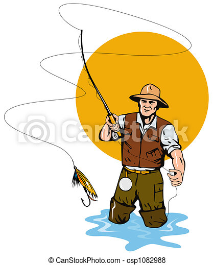 Clip Art Fly Fishing Clip Art fly fishing stock illustrations 2876 clip art images illustration on fishing