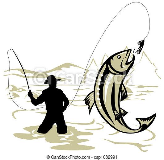 Fly fishing - csp1082991