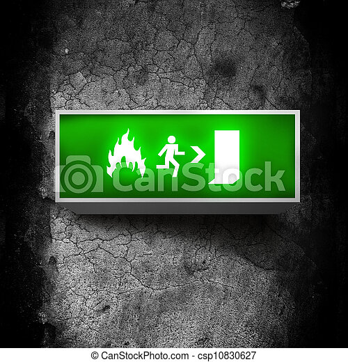 Emergency exit sign - csp10830627