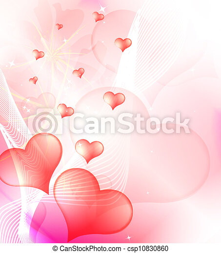 Valentine's Day background, vector - csp10830860