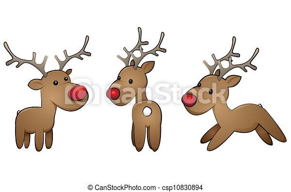 reindeer-set - csp10830894