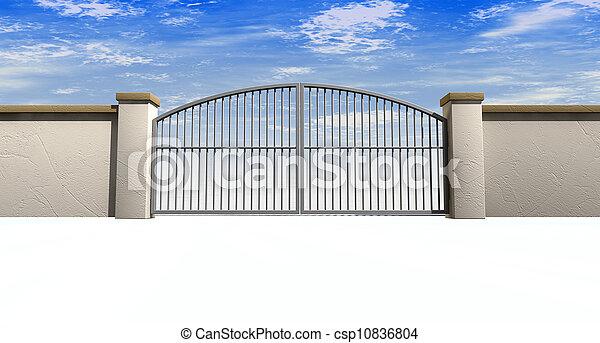 Closed Gates And Wall - csp10836804