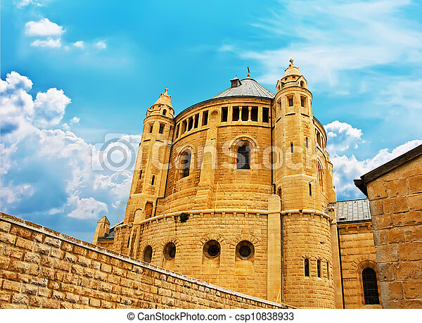 Ancient city of Jerusalem, city of three religions - csp10838933