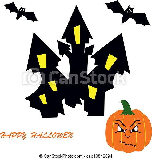 Halloween Castle Clip Art