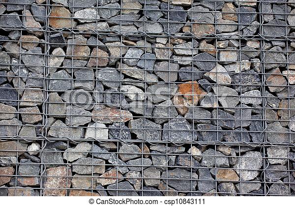 photographies de mur pierre gabion steel maille de gabion mur csp10843111 recherchez. Black Bedroom Furniture Sets. Home Design Ideas