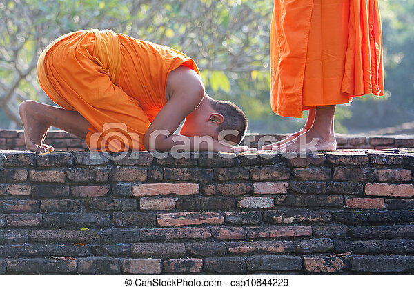 young Buddhist monks - csp10844229