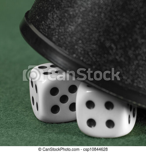 gambling tension with hidden dice - csp10844628