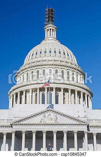 Dome of the US Capitol - csp10845347