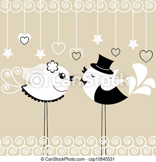Bird's wedding - csp10845531