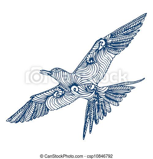 Vecteurs eps de oiseau mouche bleu oiseau mouche csp10846792 recherchez des images - Oiseau mouche dessin ...