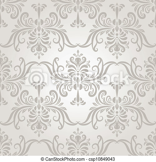 Vector Seamless Vintage Wallpaper Pattern - csp10849043