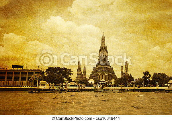 Wat arun from the Chao Praya River  - csp10849444