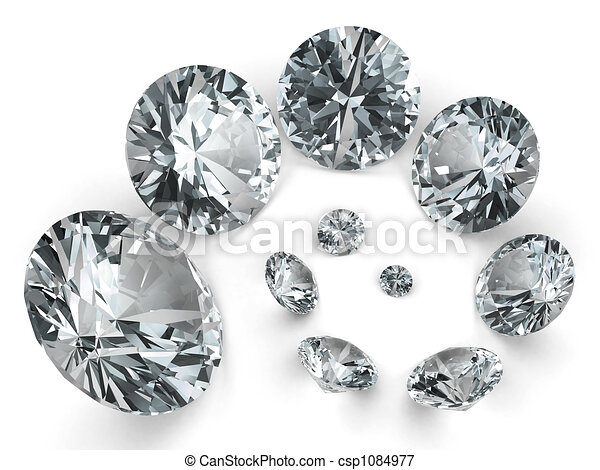Spiral of different diamonds - csp1084977