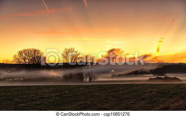 Magical November sunset  - csp10851276