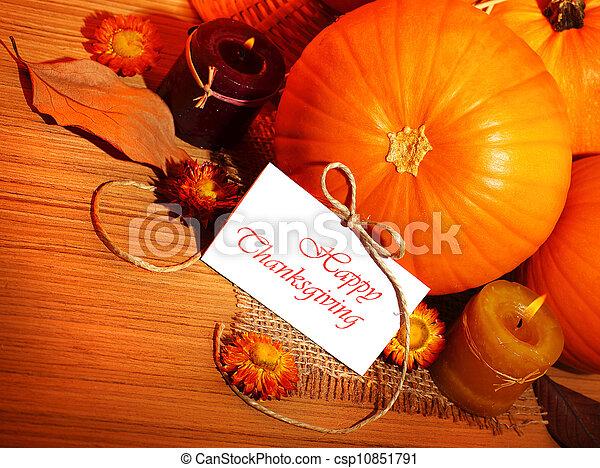 Thanksgiving holiday decoration border - csp10851791