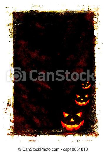 Halloween holiday card - csp10851810