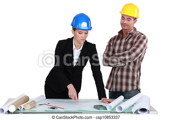 Stock de fotos de arquitecto constructor discutir for Arquitecto constructor