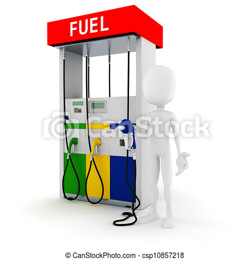 Clipart of 3d man hold... Gasoline Pump Handle