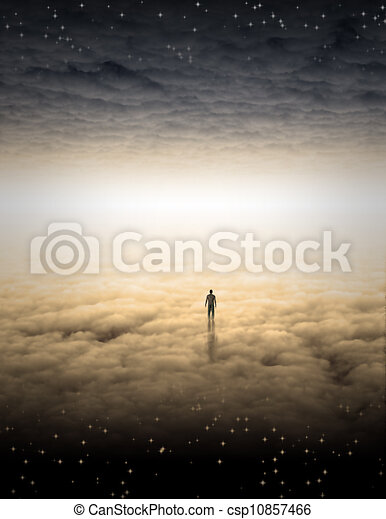 Mans Journey of the Soul - csp10857466
