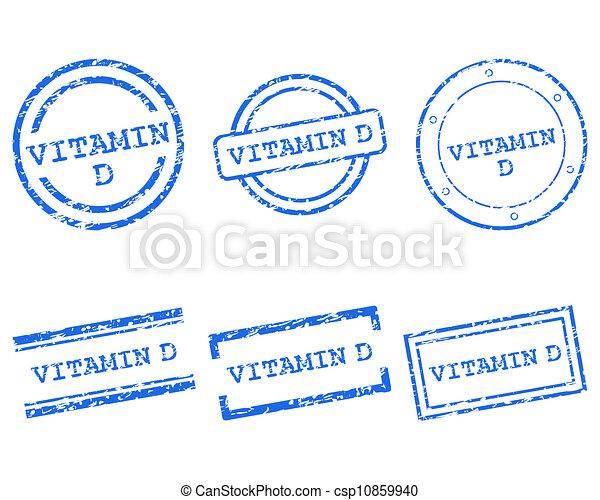 Vitamin D stamps - csp10859940
