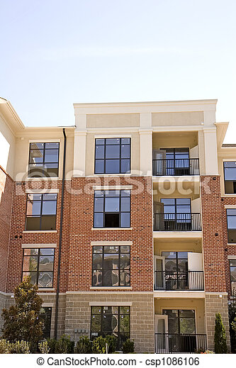 Brick And Stucco Apartments Csp1086106Stock Image Of Brick And Stucco  Apartments A Nice Brick And. Small Apartment Building ...