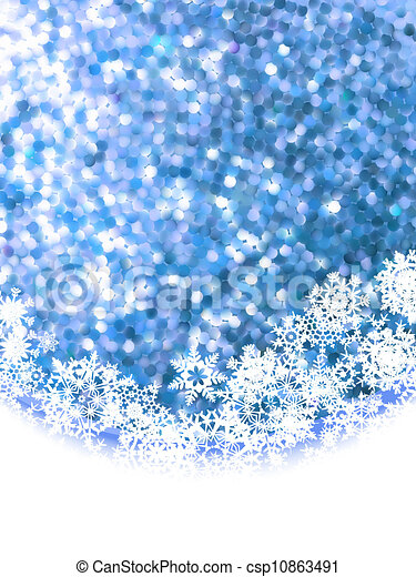 Abstract winter background with copyspace. EPS 8 - csp10863491