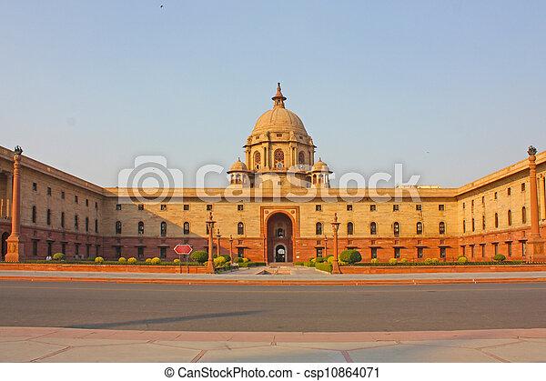Indian Government buildings, Raj Path, New Delhi, India - csp10864071