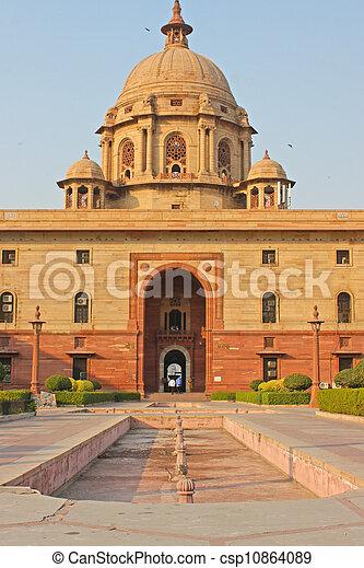 Indian Government buildings, Raj Path, New Delhi, India  - csp10864089