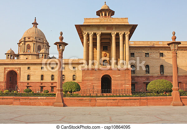Indian Government buildings, Raj Path, New Delhi, India - csp10864095