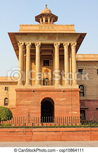 Indian Government buildings, Raj Path, New Delhi, India  - csp10864111